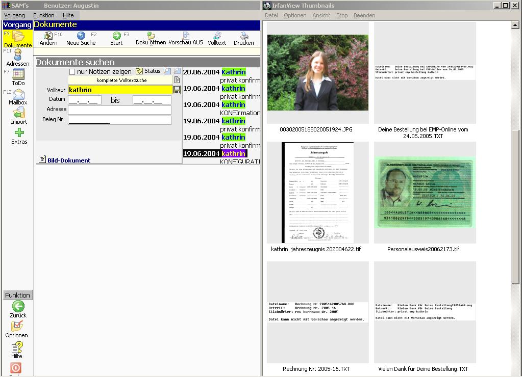 sam-s Beispiel für Anzeige Miniaturanzeige Thumbnails mit Irfanview